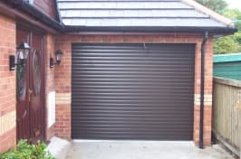 domestic black garage doors