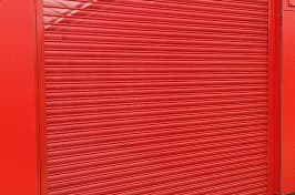 red security shutters