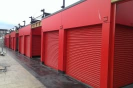kirkby market red security shutters