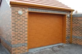 domestic wooden garage doors