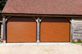 two roller garage doors