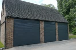 three roller garage doors