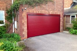 red sectional garage doors